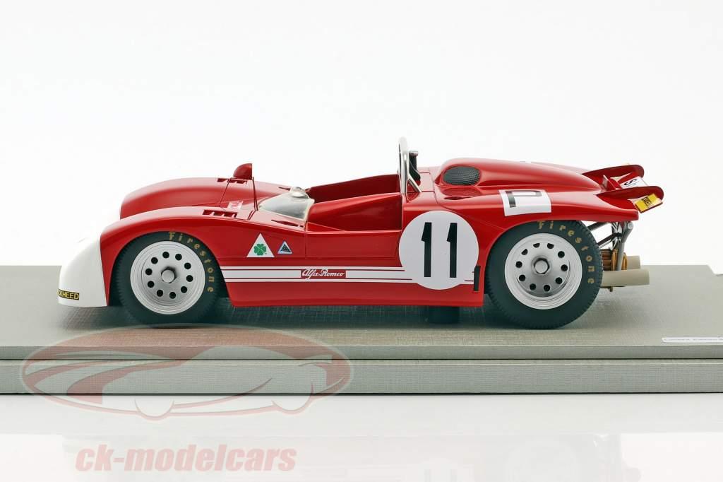 Alfa Romeo T33/3 #11 4th 1000km Nürburgring 1971 de Adamich, Pescarolo 1:18 Tecnomodel