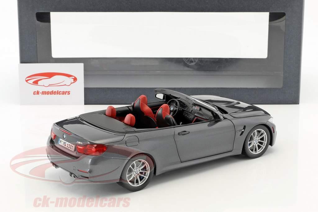 BMW M4 Cabrio grijze 1:18 ParagonModels