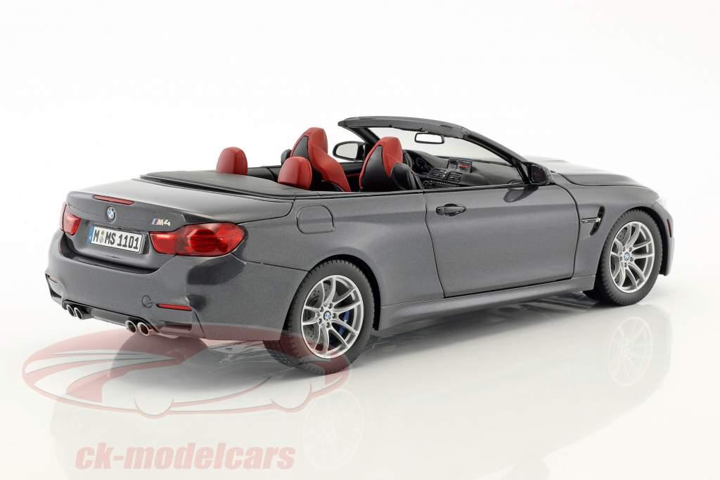 BMW M4 cinza Convertible 1:18 ParagonModels