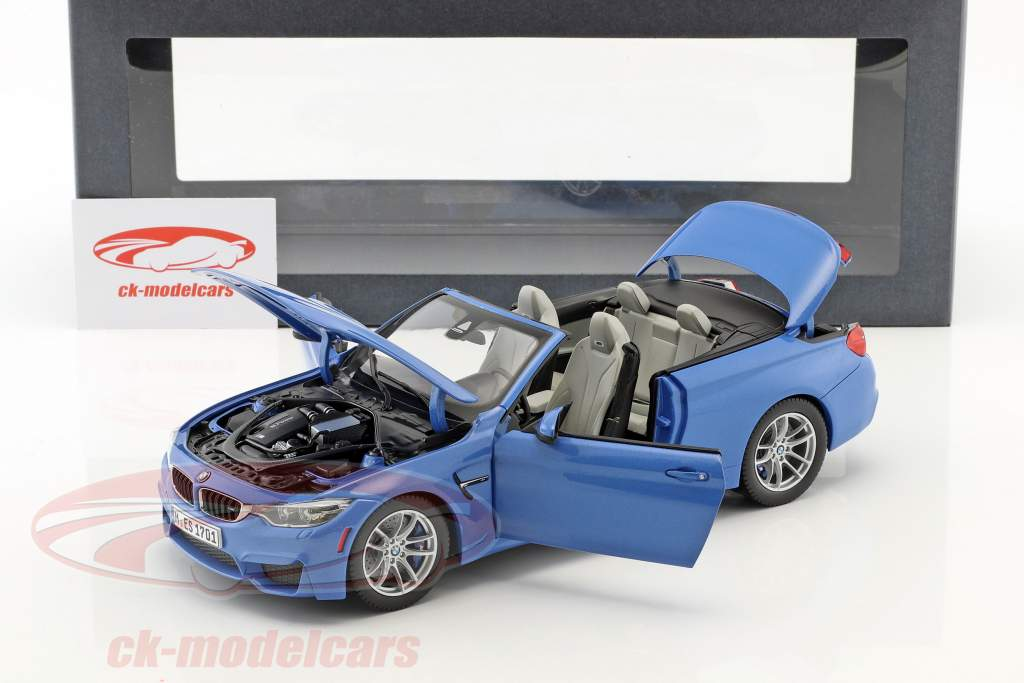 BMW M4 (F83) Convertible Anno 2015 blu 1:18 ParagonModels