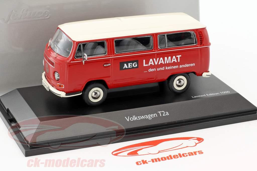 Volkswagen VW T2a Bus L Luxury AEG Lavamat red / white 1:43 Schuco