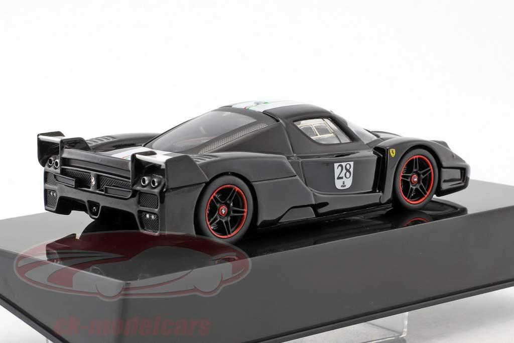 Ferrari FXX #28 Baujahr 2006 schwarz mit italienischer Flagge 1:43 HotWheels Elite
