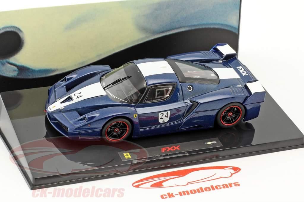 Ferrari FXX  #24 year 2006 Tour de France blue with white stripes 1:43 HotWheels Elite