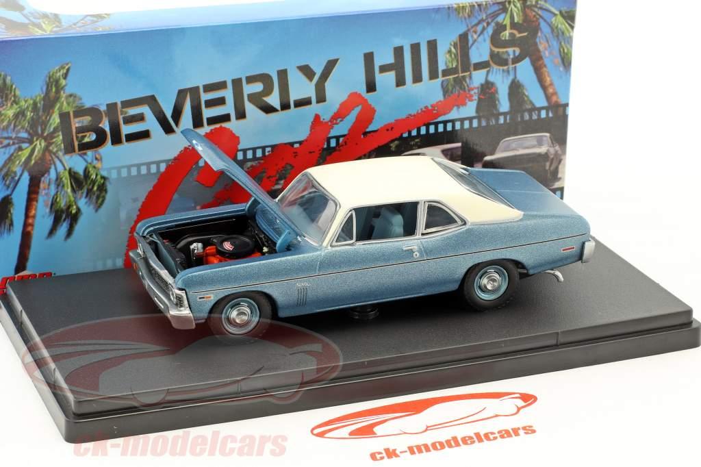 Chevrolet Nova year 1970 Movie Beverly Hills Cop (1984) blue metallic / white 1:43 GMP
