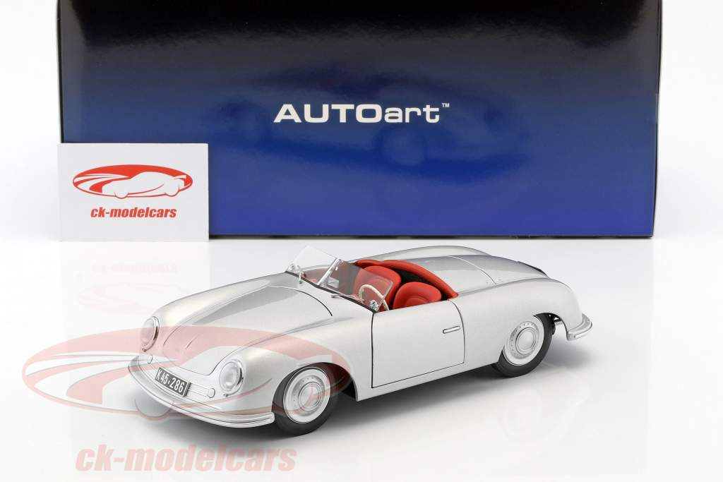 Porsche 356 nombre 1 année de construction 1948 argent 1:18 AUTOart