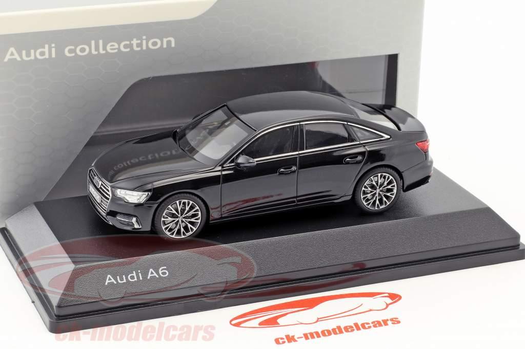 Audi A6 C8 sedán mito negro 1:43 iScale