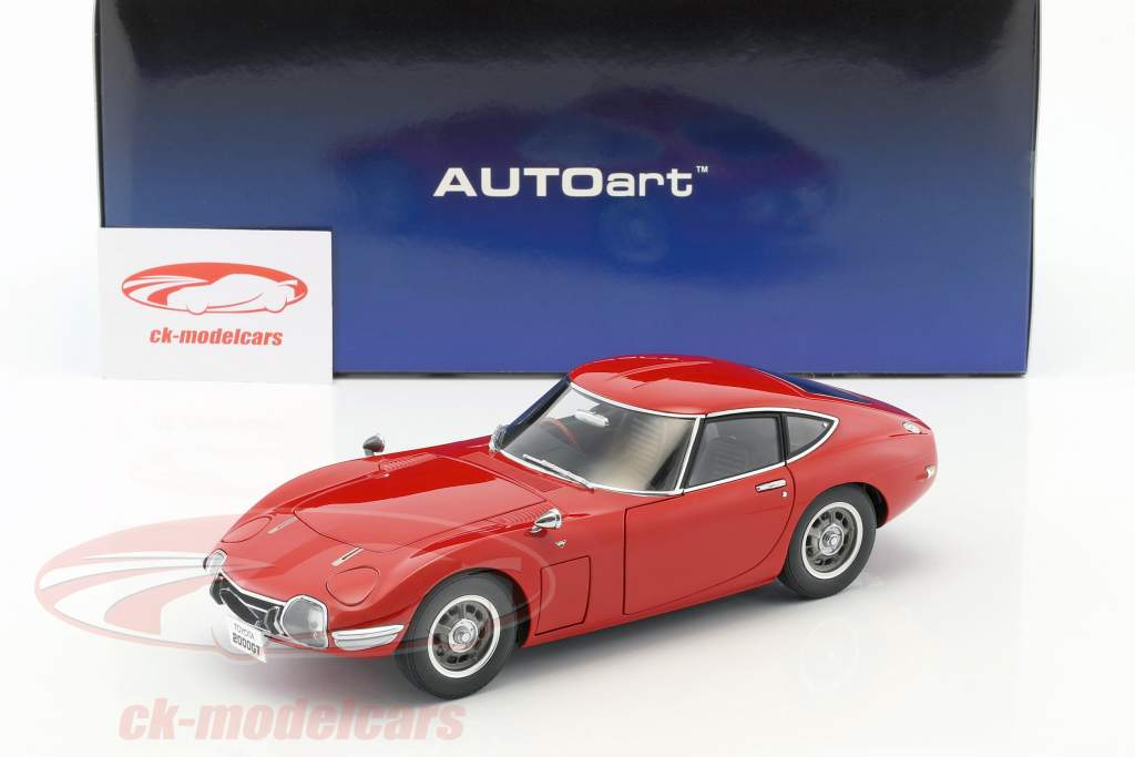 Toyota 2000 GT coupe year 1965 red 1:18 AUTOart