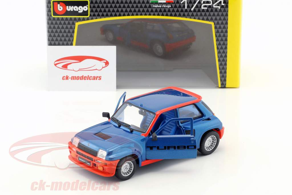 Renault 5 Turbo Baujahr 1982 blau / rot 1:24 Bburago