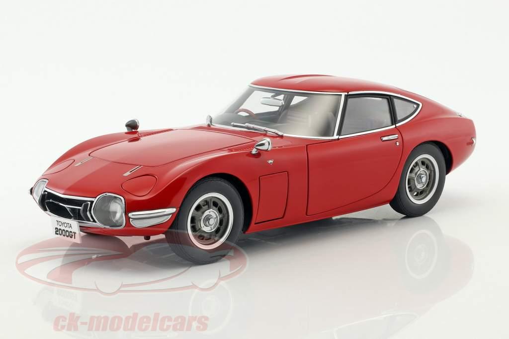 Toyota 2000 GT coupe anno di costruzione 1965 rosso 1:18 AUTOart