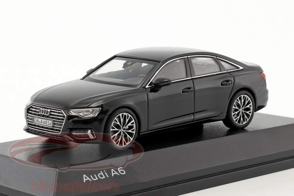 Audi A6 C8 sedan mythe zwart 1:43 iScale