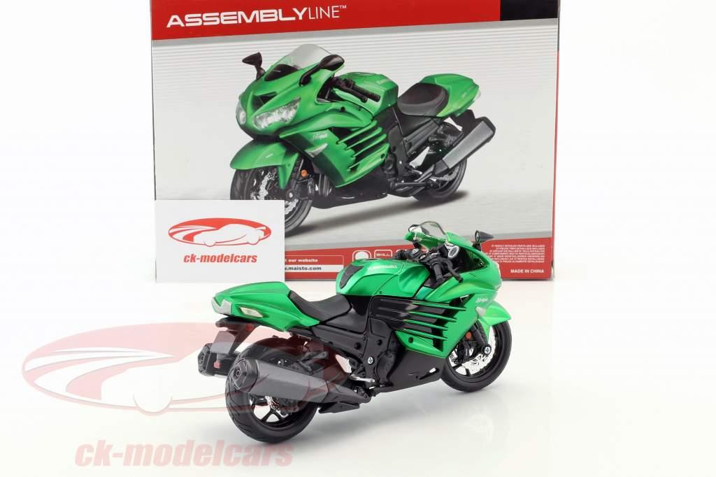 Kawasaki Ninja ZX-14R assembly Kit green 1:12 Maisto