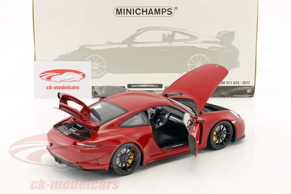 Porsche 911 (991 II) GT3 anno di costruzione 2017 rosso 1:18 Minichamps