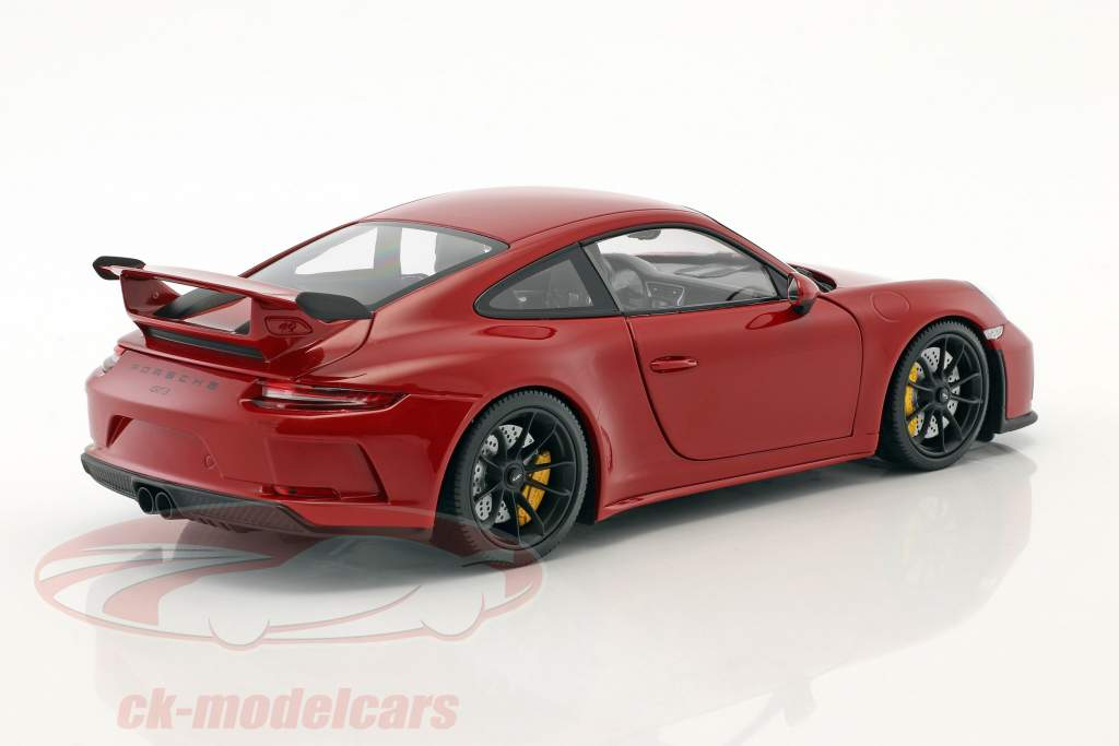 Porsche 911 (991 II) GT3 year 2017 red 1:18 Minichamps