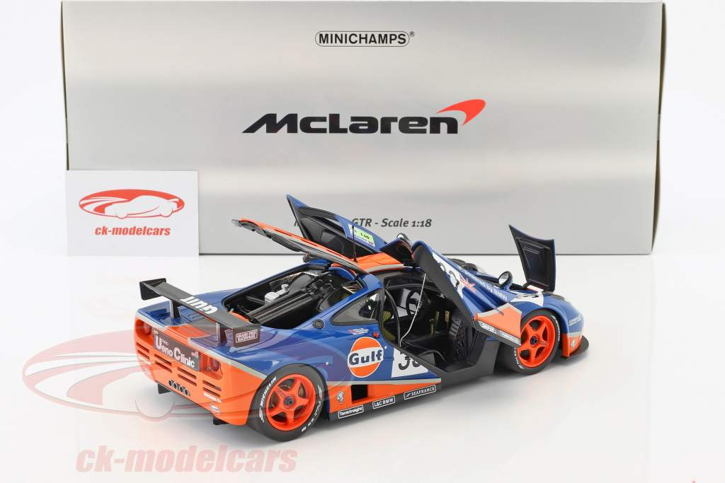 McLaren F1 GTR Gulf Racing #33 9th 24h LeMans 1996 Bellm, Lehto, Weaver 1:18 Minichamps