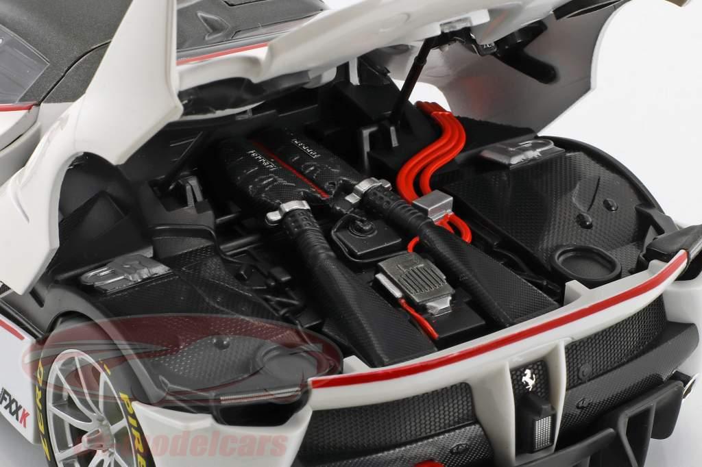 Ferrari FXX-K #75 year 2017 white 1:18 Bburago Signature