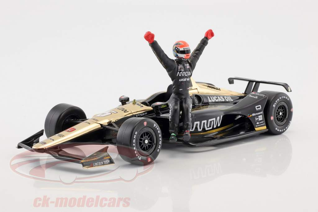 James Hinchcliffe Honda #5 IndyCar Series 2018 with figure 1:18 Greenlight
