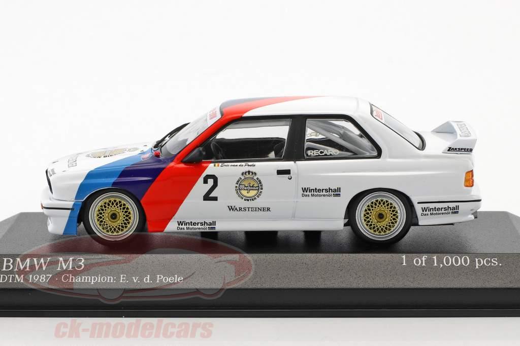 BMW M3 (E30) #2 DTM Kampioen 1987 Eric van de Poele 1:43 Minichamps