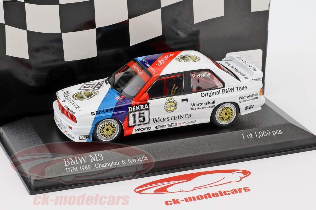 BMW M3 (E30) #15 DTM Campeão 1989 Roberto Ravaglia 1:43 Minichamps