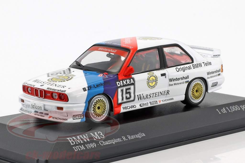 BMW M3 (E30) #15 DTM Campione 1989 Roberto Ravaglia 1:43 Minichamps