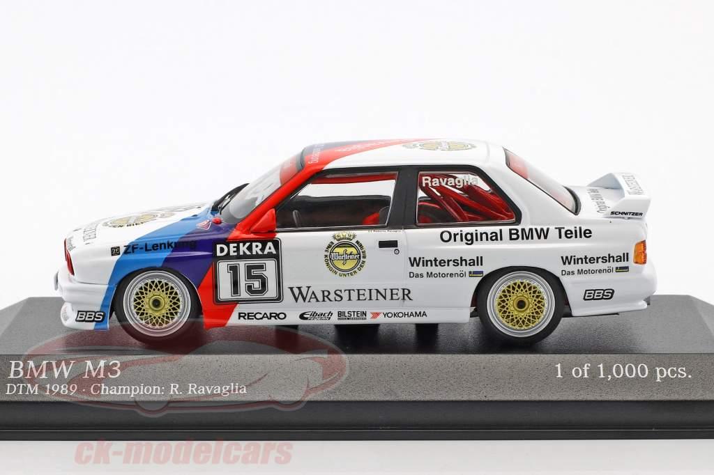 BMW M3 (E30) #15 DTM Kampioen 1989 Roberto Ravaglia 1:43 Minichamps