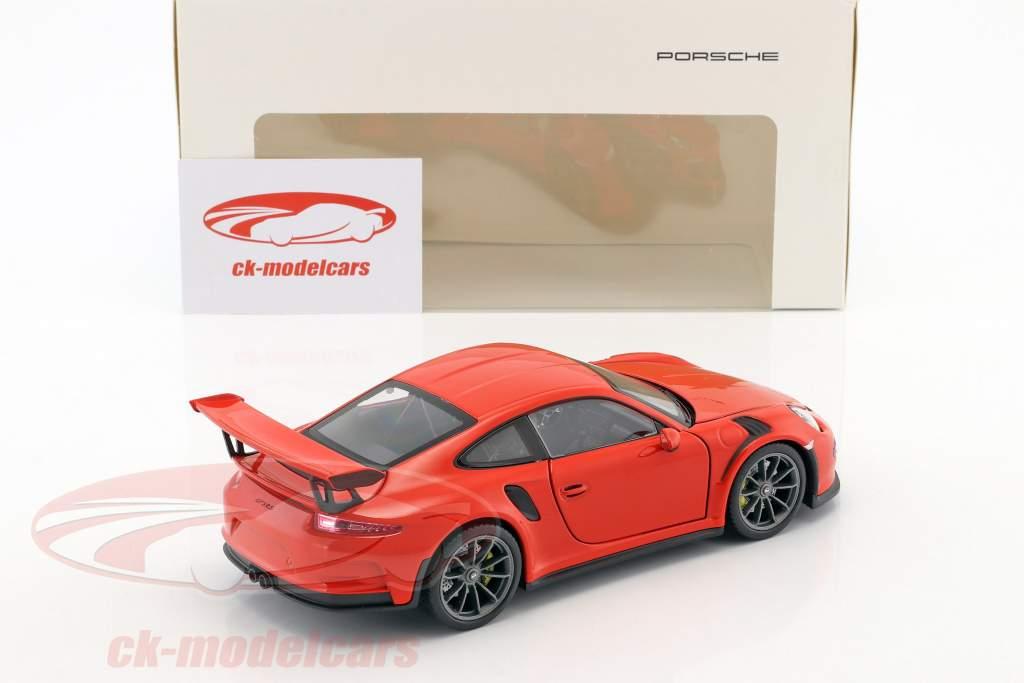 Porsche 911 (991) GT3 RS année de construction 2016 lave orange 1:24 Welly