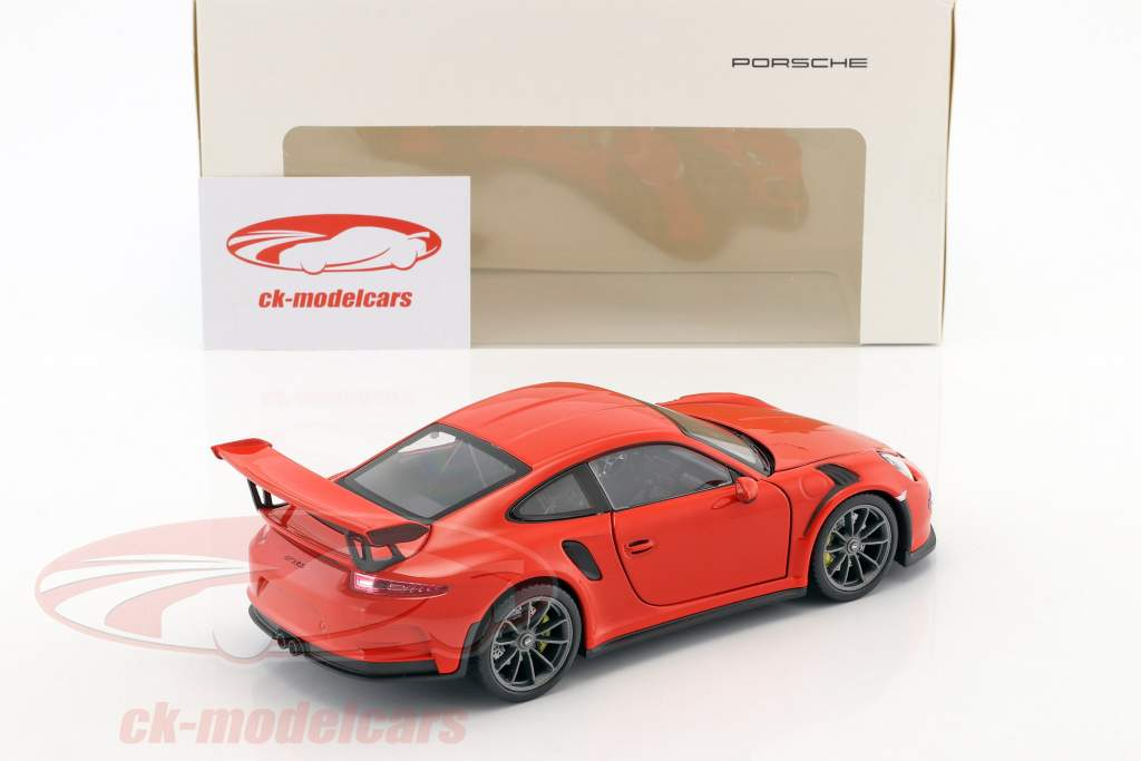 Porsche 911 (991) GT3 RS Construction year 2016 lava orange 1:24 Welly