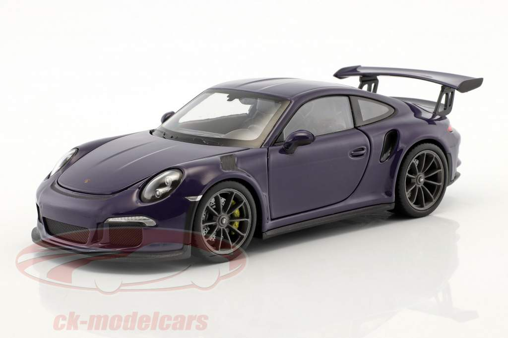 Porsche 911 (991) GT3 RS year 2016 ultraviolet 1:24 Welly