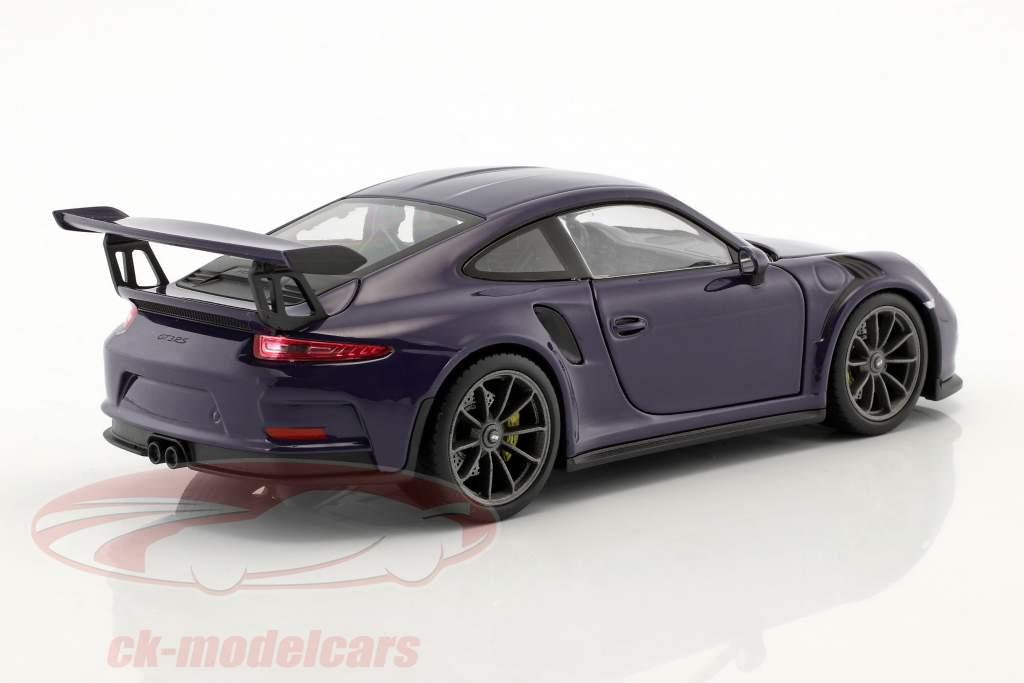 Porsche 911 (991) GT3 RS Baujahr 2016 ultraviolett 1:24 Welly