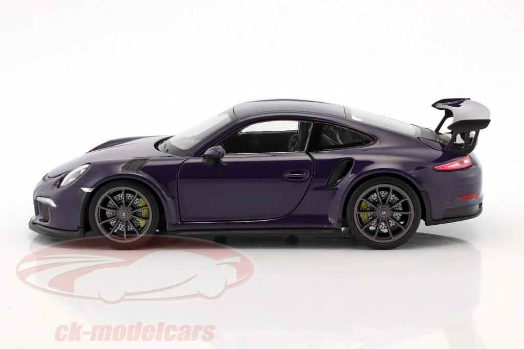 Porsche 911 (991) GT3 RS Bouwjaar 2016 ultraviolet 1:24 Welly