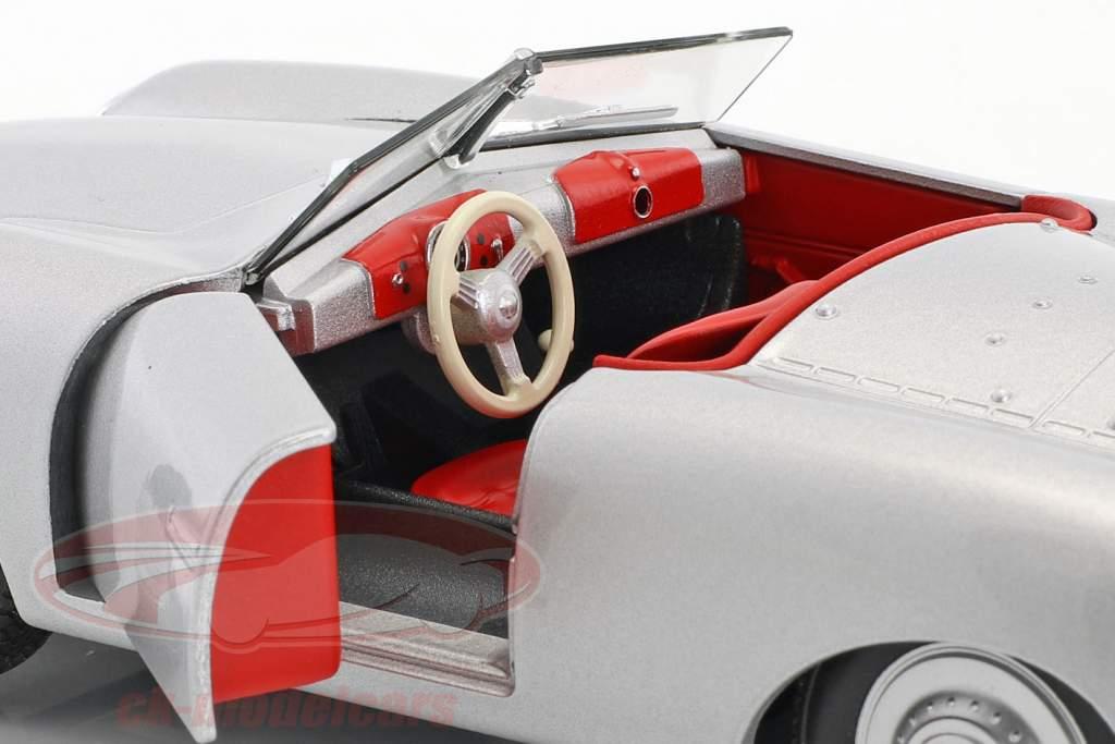 Porsche 356 Nr. 1 con placa año de construcción 1948 plata 1:24 Welly
