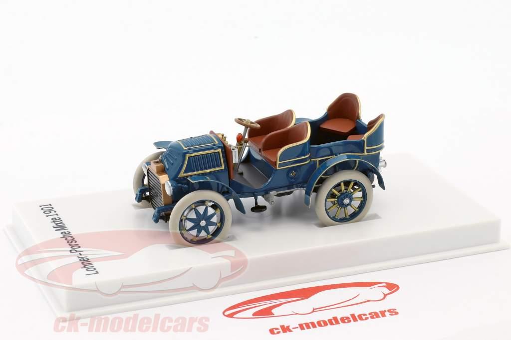 Lohner - Porsche Mixte coche año de construcción 1901 azul 1:43 Porsche Museum