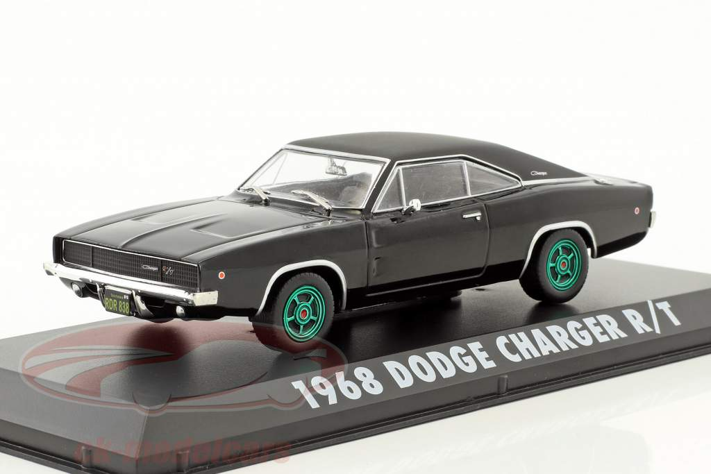 Dodge Charger R / T Steve McQueen Movie Bullitt (1968) black / green rims 1:43 Greenlight