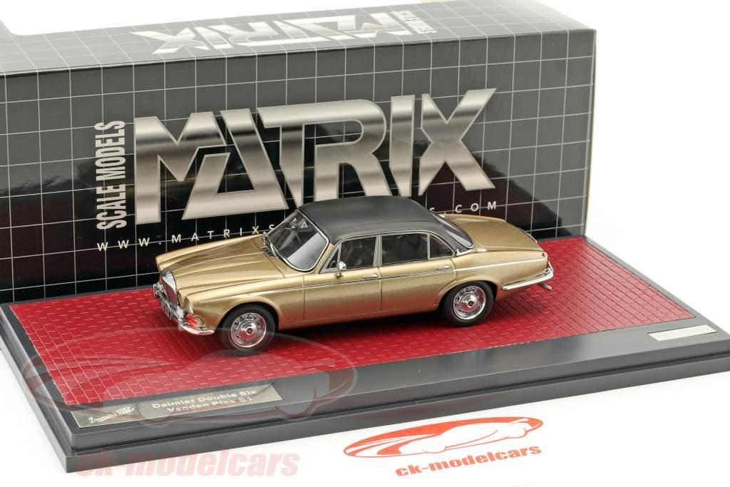 Daimler Double Six Vanden Plas S1 anno di costruzione 1973 sabbia metallico 1:43 Matrix