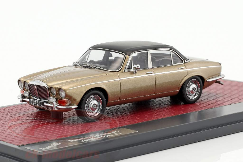 Daimler Double Six Vanden Plas S1 year 1973 sand metallic 1:43 Matrix