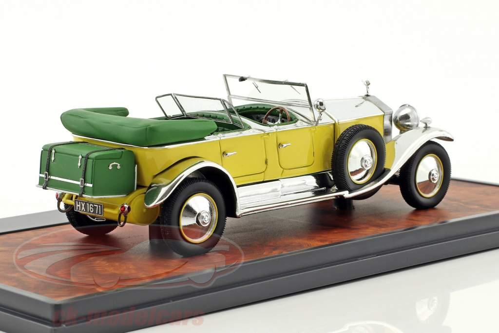 Rolls Royce Phantom 1 Tourer Barker année de construction 1929 jaune / argent / vert 1:43 Matrix