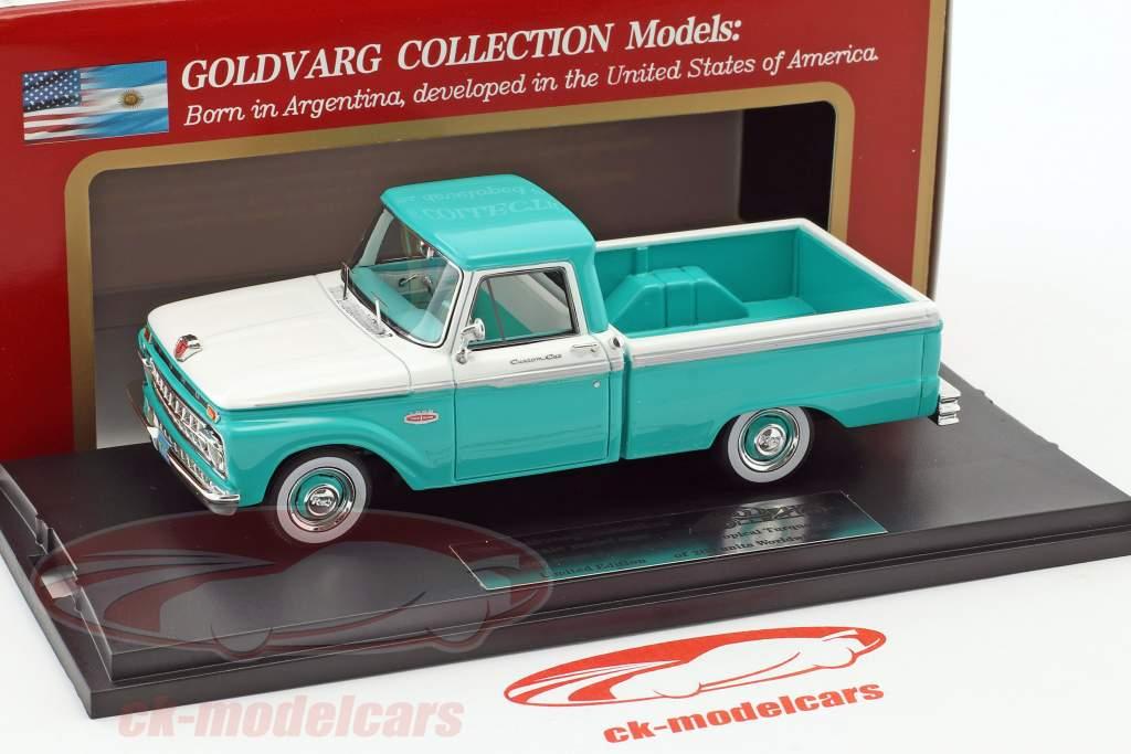 Ford F-100 Pick-Up anno di costruzione 1965 turchese / bianco 1:43 Goldvarg