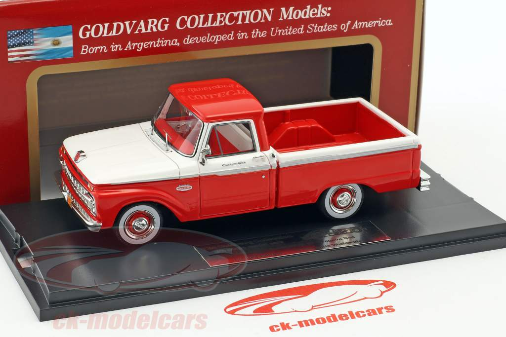 Ford F-100 Pick-Up année de construction 1965 rouge / blanc 1:43 Goldvarg