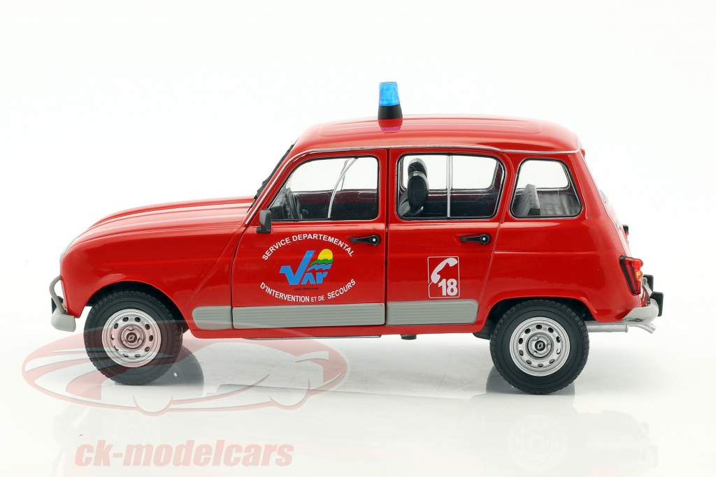 Renault 4 GTL pompiers rouge 1:18 Solido