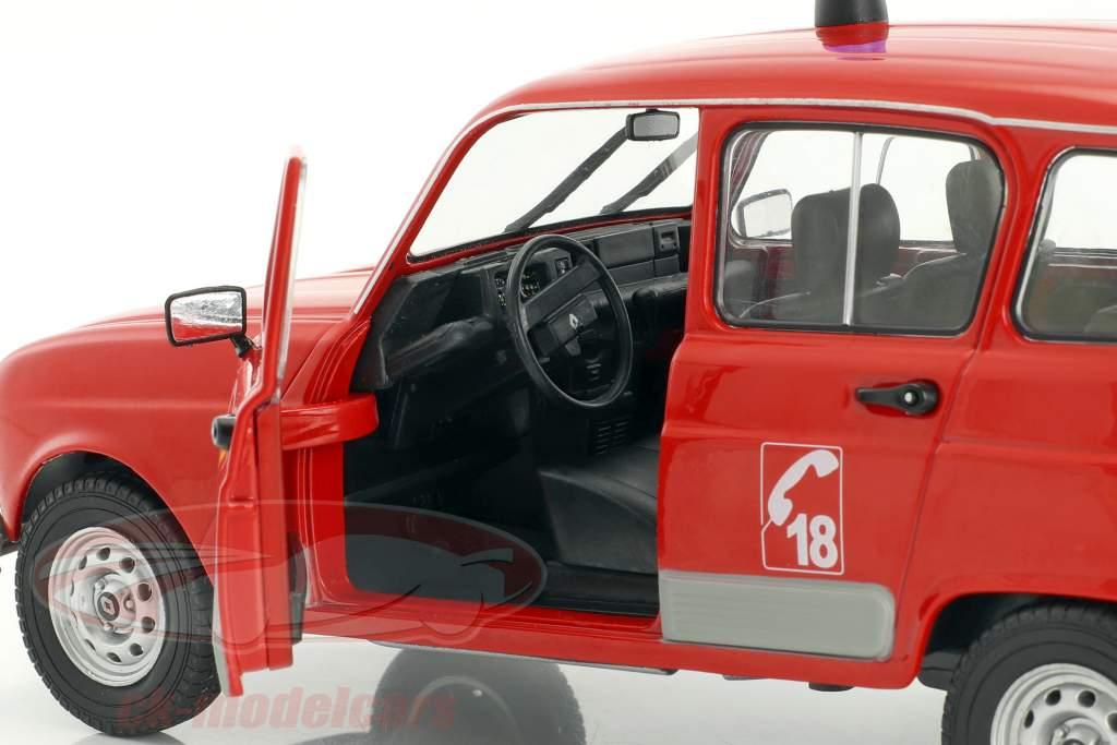 Renault 4 GTL vigili del fuoco rosso 1:18 Solido