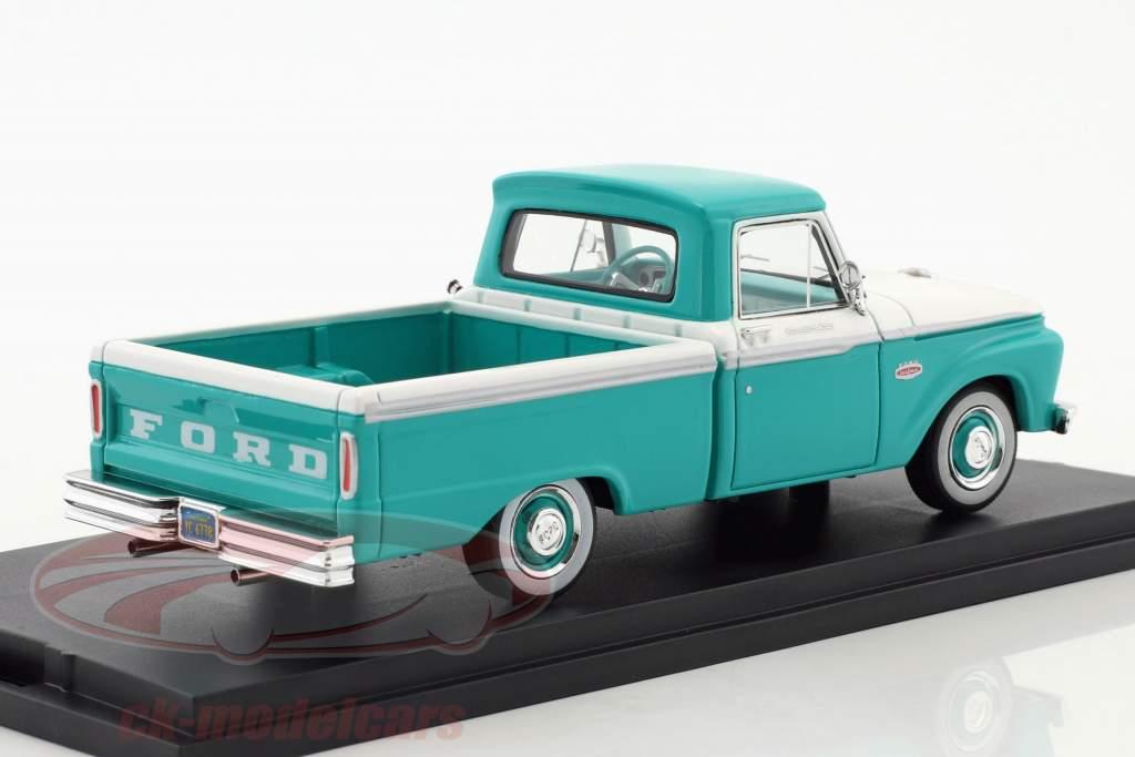 Ford F-100 Pick-Up année de construction 1965 turquoise / blanc 1:43 Goldvarg