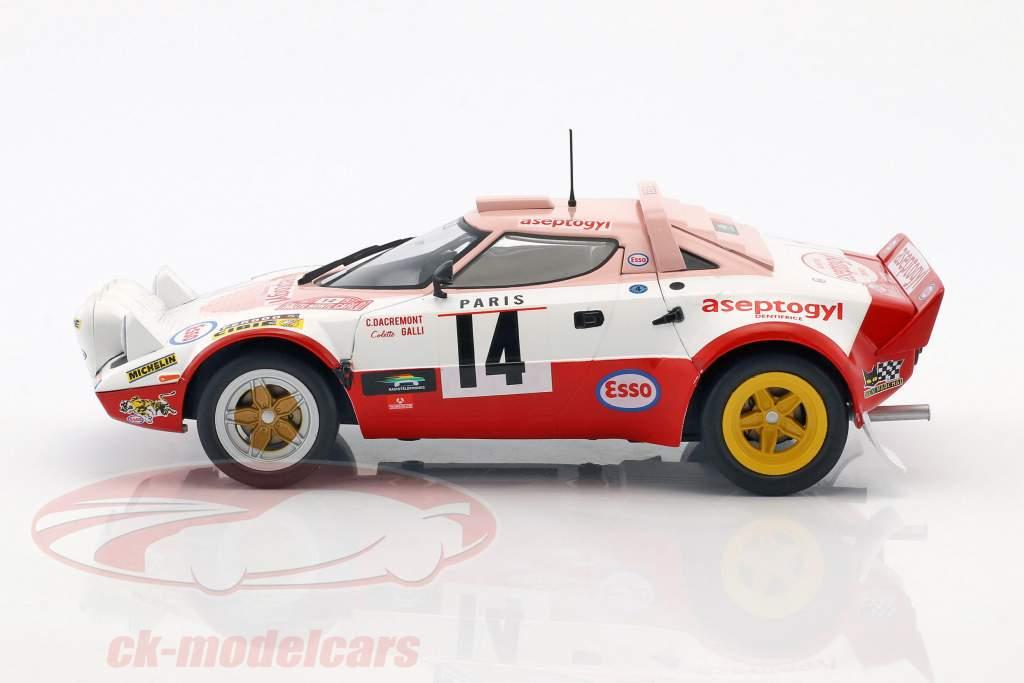 Lancia Stratos HF #14 6 ° Rallye Monte Carlo 1977 Dacremont, Galli 1:18 Solido
