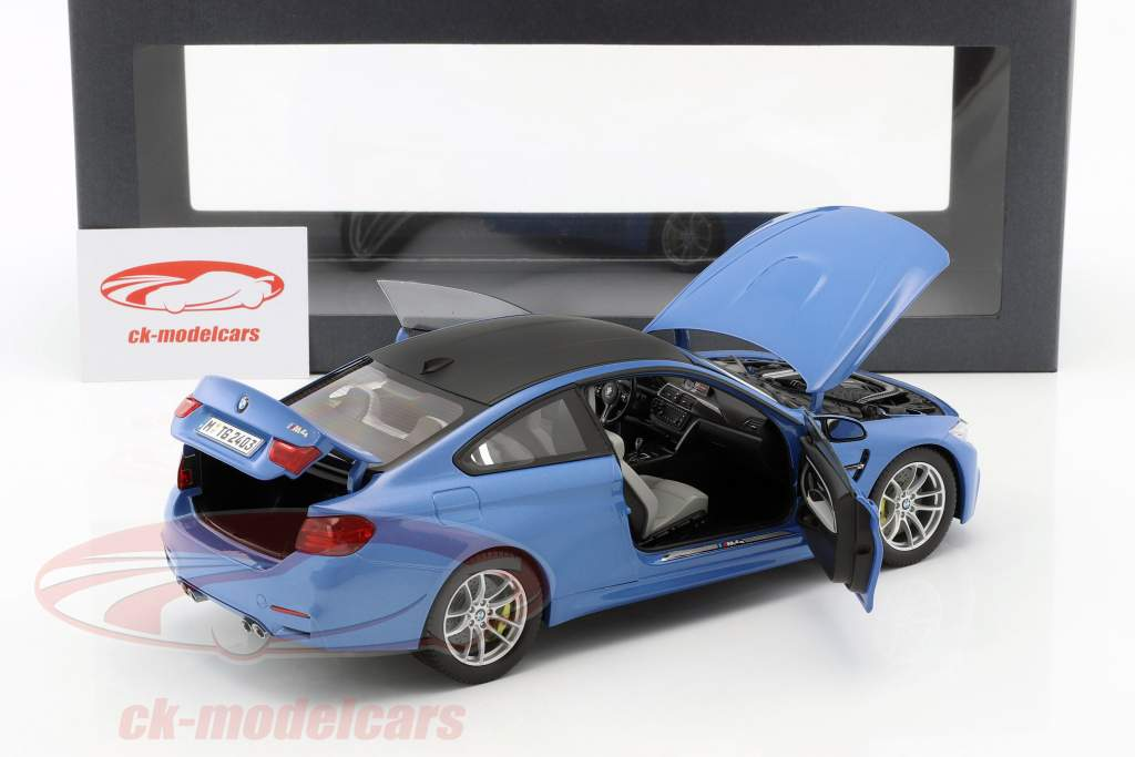 BMW M4 (F82) Coupe Year 2014 blue metallic 1:18 ParagonModels