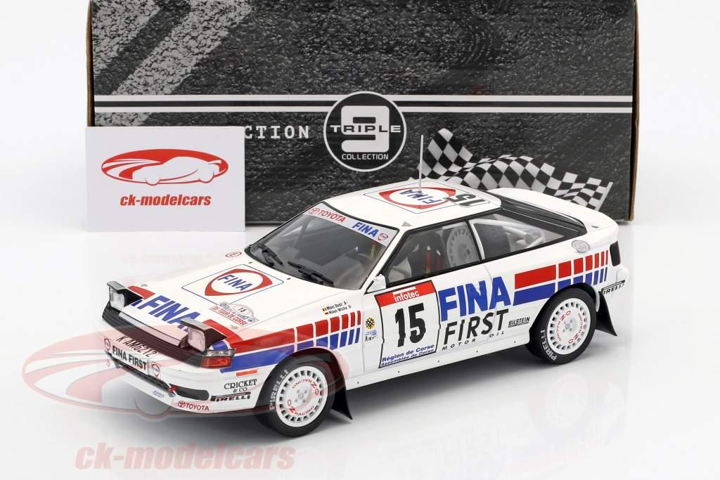 Toyota Celica GT-4 #15 4 ° Tour de Corse 1991 Duez, Wicha 1:18 Triple9