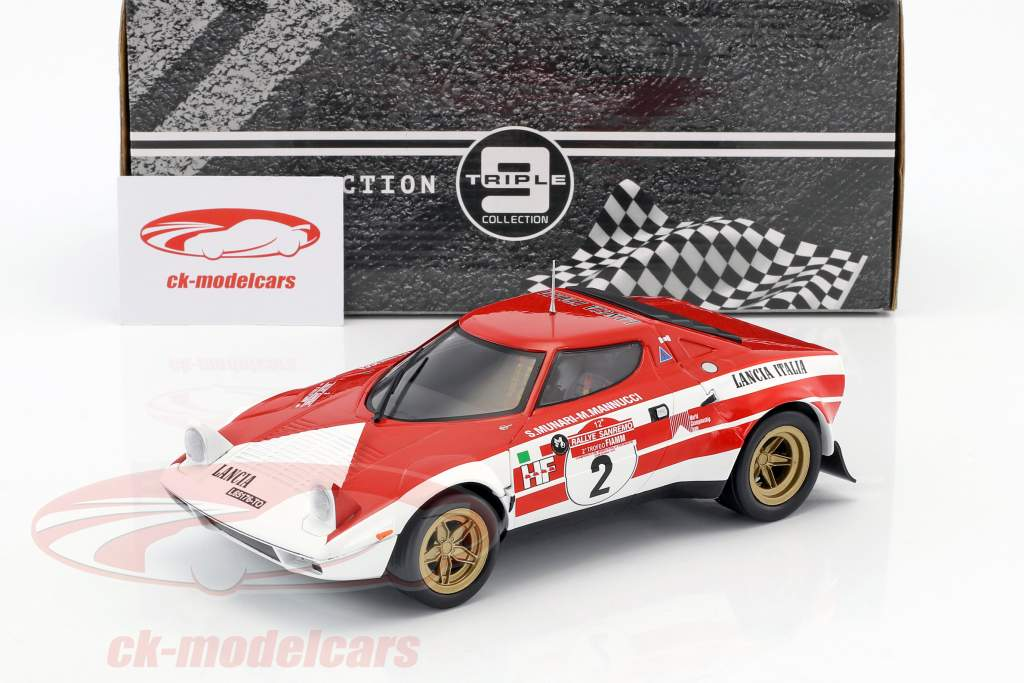 Lancia Stratos HF #2 vencedor Rallye SanRemo 1974 Munari, Manucci 1:18 Triple9