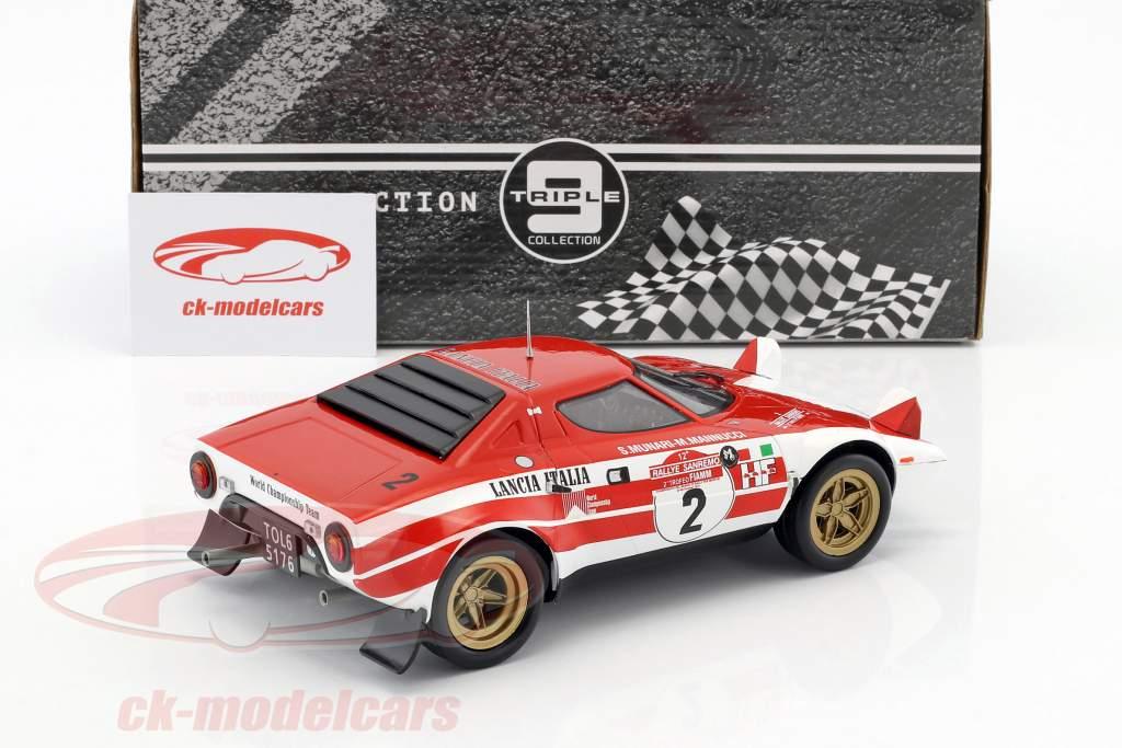 Lancia Stratos HF #2 Vinder Rallye SanRemo 1974 Munari, Manucci 1:18 Triple9