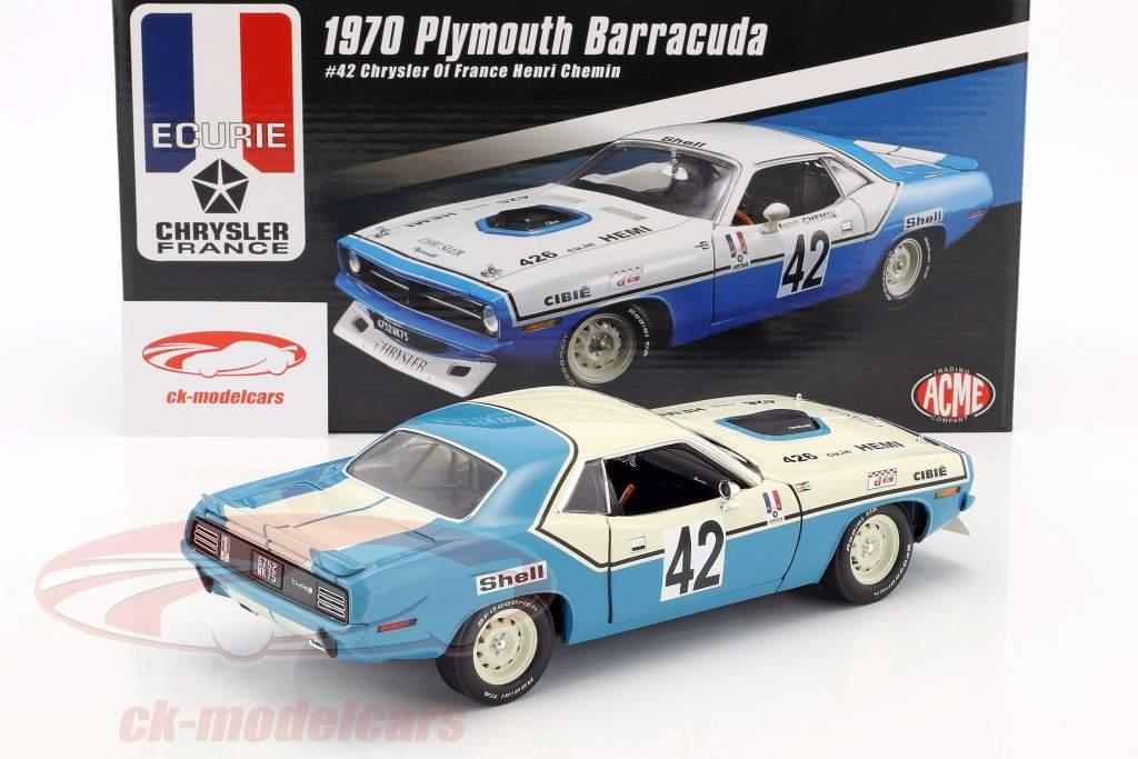 Plymouth Barracuda Trans Am #42 anno di costruzione 1970 Henri Chemin 1:18 GMP