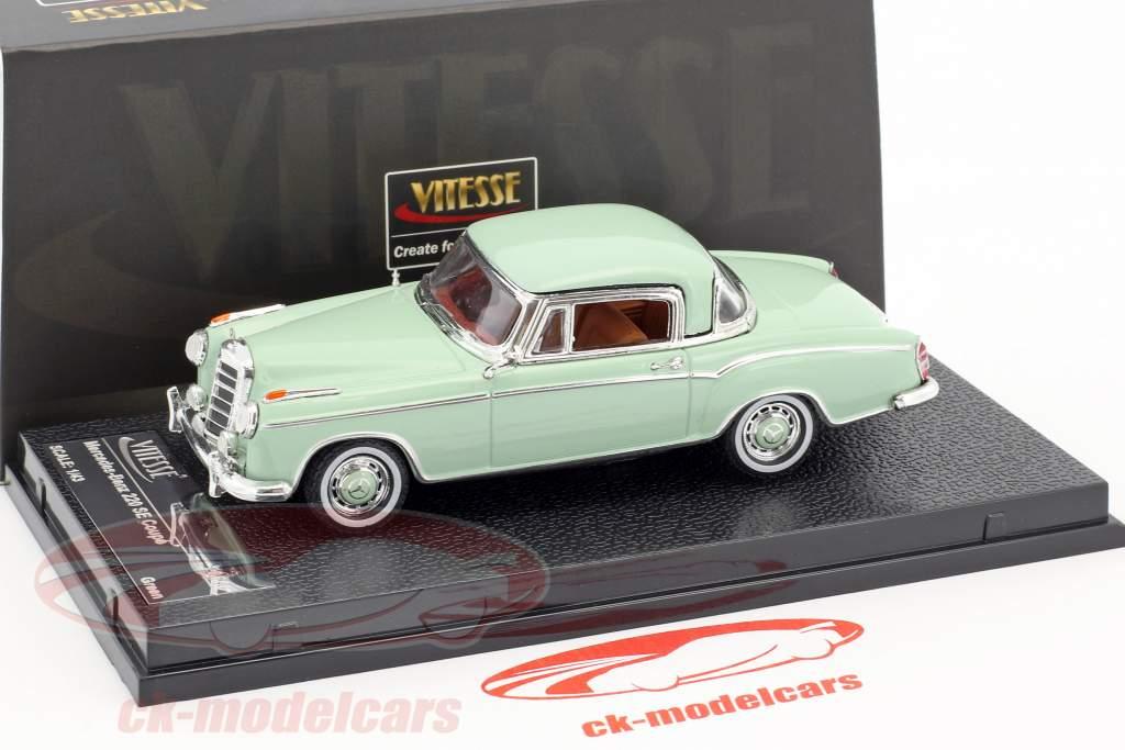 Mercedes-Benz 220 SE coupé année de construction 1958 brillant vert 1:43 Vitesse