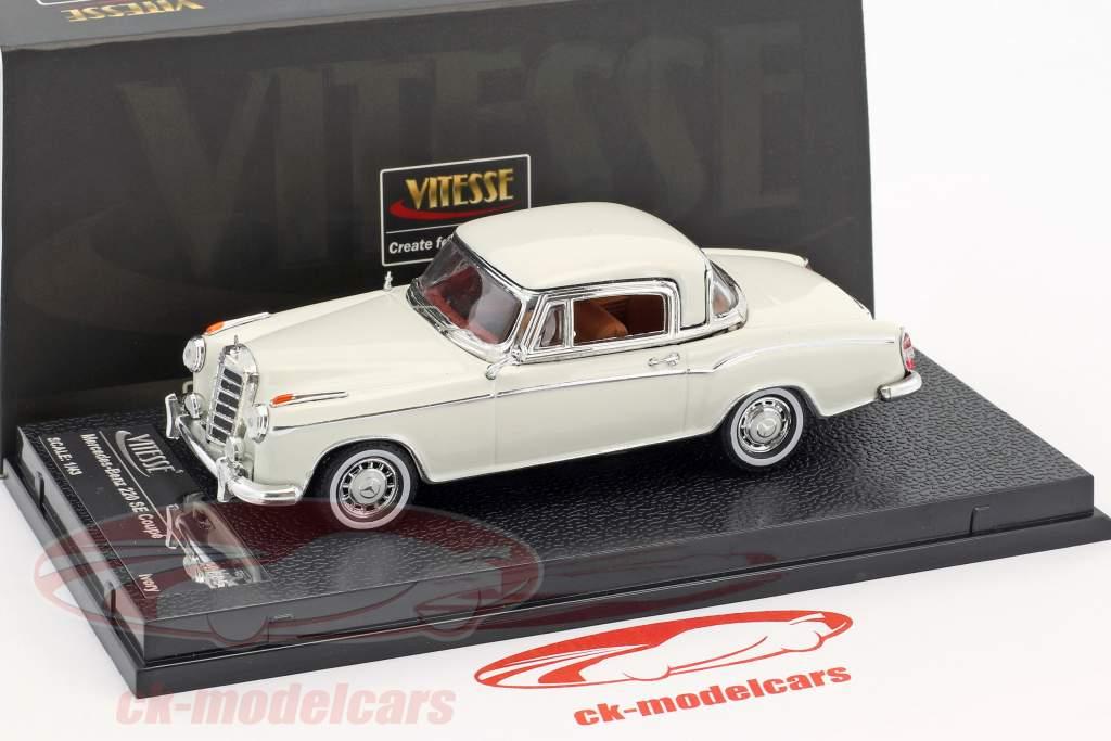 Mercedes-Benz 220 SE coupe ano de construção 1958 marfim 1:43 Vitesse