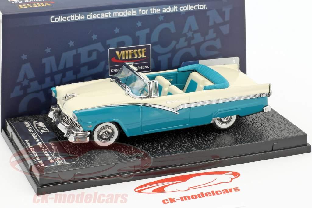 Ford Fairlane aberto conversível ano de construção 1956 azul / branco 1:43 Vitesse