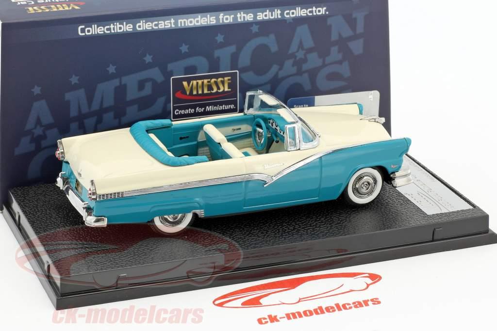 Ford Fairlane åbent Cabriolet Opførselsår 1956 blå / hvid 1:43 Vitesse